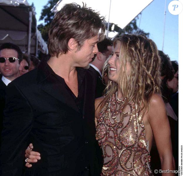 Brad Pitt et Jennifer Aniston en septembre 1999.