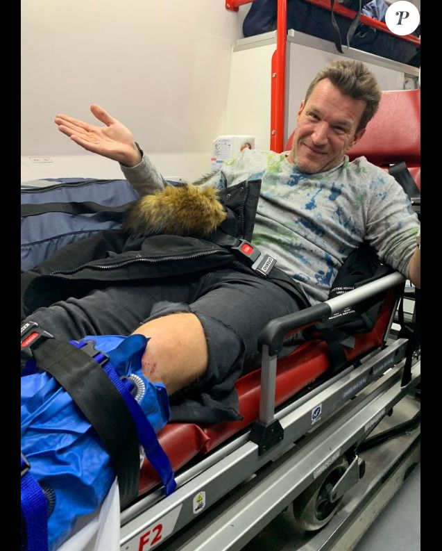 Benjamin Castaldi victime d'un accident de moto, 6 décembre 2018, Twitter