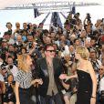 Diane Kruger, Quentin Tarantino et Mélanie Laurent lors du photocall du film  Inglourious Basterds .