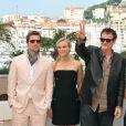 Brad Pitt, Diane Kruger et Quentin Tarantino lors du photocall du film  Inglourious Basterds .