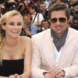 Diane Kruger et Brad Pitt lors du photocall du film  Inglourious Basterds .