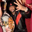 """Exclusif - Le rappeur Booba fête son 41ème anniversaire au club Hobo et par la même occasion lance sa bouteille de Whisky nommée """"Duc"""" à Paris le 12 décembre 2017. © Rachid Bellak/Bestimage"""