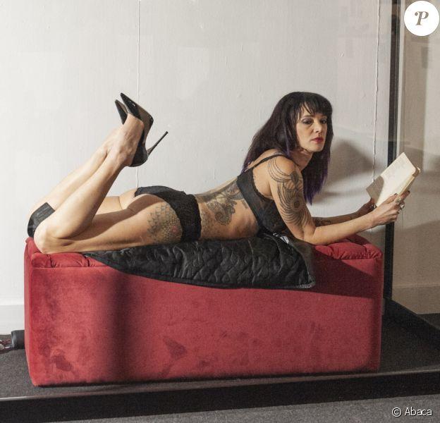 Asia Argento participe à l'exposition de l'artiste tatoueur Marco Manzo au musée Vittoriano. Rome, le 10 décembre 2018.