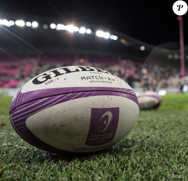 """Illustration lors du tournoi """"European Rugby Challenge Cup"""", le 21 janvier 2018 à Paris."""