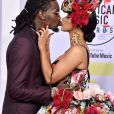 Offset et Cardi B aux American Music Awards 2018, Microsoft Theatre à Los Angeles, le 9 octobre