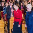 La princesse Victoria de Suède lors d'un séminaire sur le droit de vote au Parlement suédois à Stockholm le 17 décembre 2018.