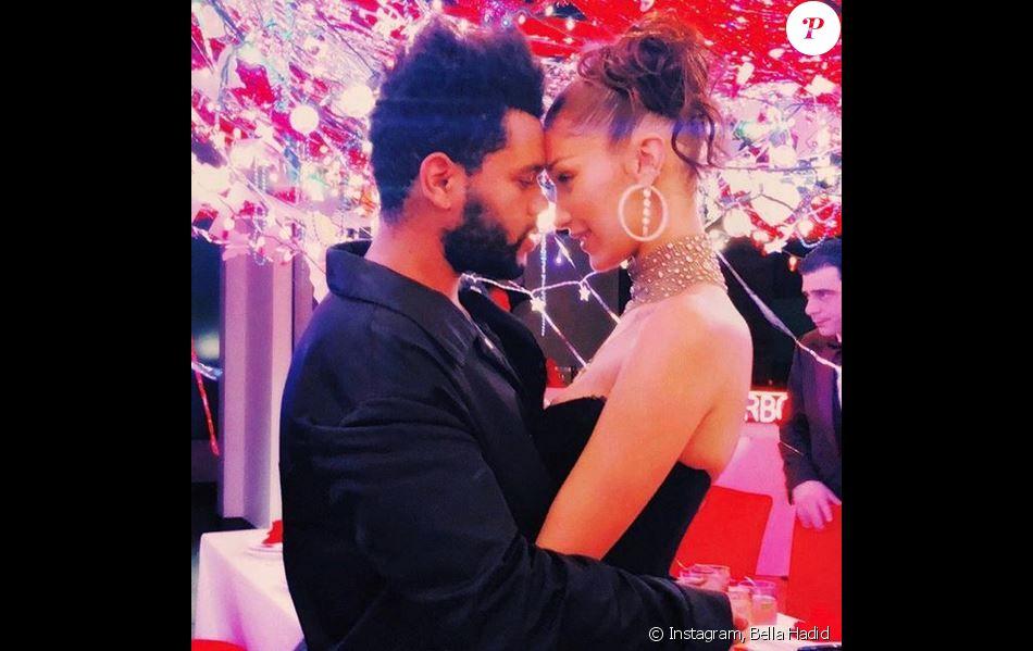Bella Hadid et The Weeknd. Octobre 2018.