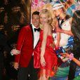 Stefano Gabbana et Eva Herzigova voient la vie en rouge pour l'anniversaire d'Audigier !