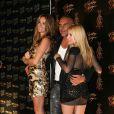 Christian Audigier entouré de sa femme (G) et de sa fille (D)