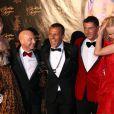 Natasha Poly, Domenico Dolce, Jean Roch, Stefano Gabbana,  Eva Herzigova étaient à la soirée organisée au VIP Room de Cannes pour les 51 ans de Christian Audigier