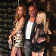 Christian Audigier entouré de sa femme Ira et sa fille Crystal