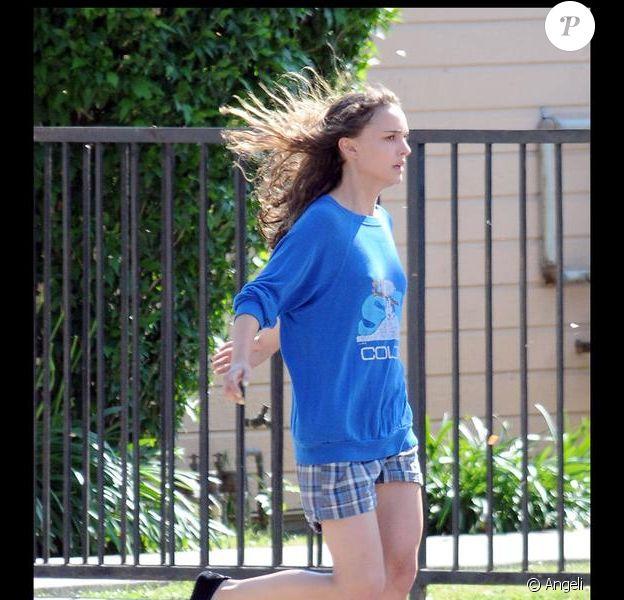 Natalie Portman sur le tournage du film Hesher à Los Angeles le 21 mai 2009