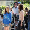 Natalie Portman et Joseph Gordon-Levitt sur le tournage du film Hesher à Los Angeles le 21 mai 2009
