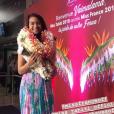 Vaimalama Chaves, Miss France 2019, de retour à Tahiti. Elle est accueillie très chaleureusement. décembre 2018.