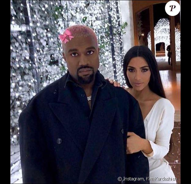Soirée du réveillon de Noël chez Kim Kardashian et Kanye West. Calabasas, le 24 décembre 2018.