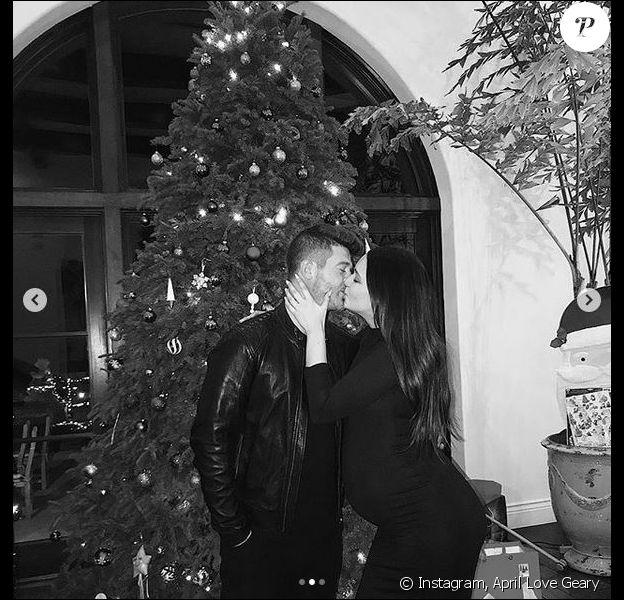 Robin Thicke et April Love Geary. Décembre 2018.