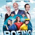 """Affiche de la pièce """"Boeing boeing"""" avec Frank Leboeuf."""