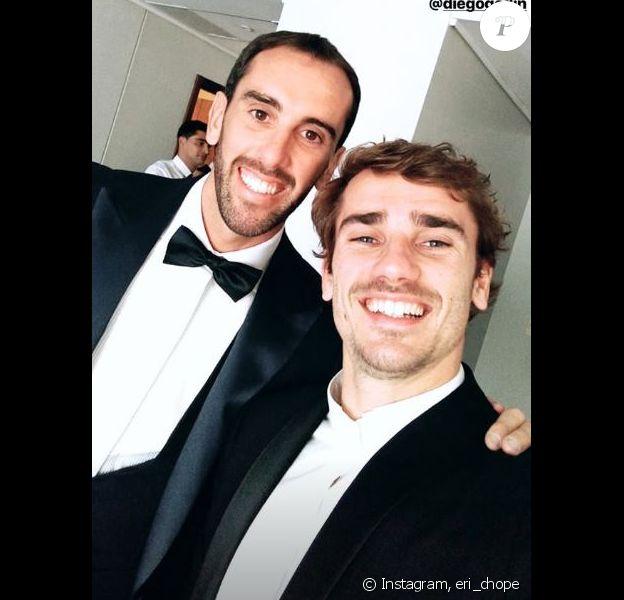 Antoine Griezmann au mariage de Diego Godin en Uruguay, le 26 décembre 2018.