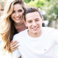 Florian Thauvin et sa compagne Charlotte Pirroni en juillet 2018, photo Instagram.