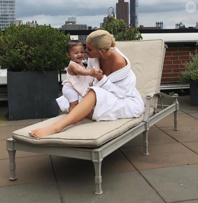 Kylie Jenner et sa fille Stormi à New York. Photo publiée le 22 août 2018 sur Instagram.