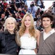 Jane Campion, Abbie Cornish et Ben Whishaw lors du 62e Festival de Cannes