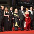 Michael Haneke et l'équipe de son film Le Ruban Blanc lors du 62e Festival de Cannes