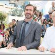Eric Cantona et Ken Loach lors du 62e Festival de Cannes