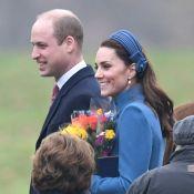 Kate Middleton élégante en bleu pour une nouvelle messe avec la reine