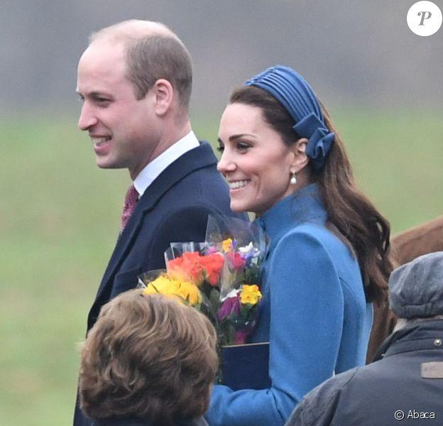 Kate Middleton et le prince William ont retrouvé la reine Elizabeth II pour une messe à Sandringham, le 6 janvier 2019.