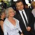 Michel Denisot et sa femme  lors du 62e Festival de Cannes