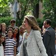 Letizia d'Espagne et Sofia à la communion de Juan et Pablo, enfants de Cristina d'Espagne. 23/05/09