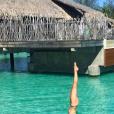 La divine Sylvie Tellier en mode sportive à Bora-Bora le dernier week-end de 2018.