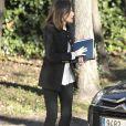 La reine Letizia d'Espagne (en Zara et Hugo Boss, ses basiques) prenait part le 9 janvier 2019 à Madrid à une réunion de travail de la Fondation d'aide contre la toxicomanie.