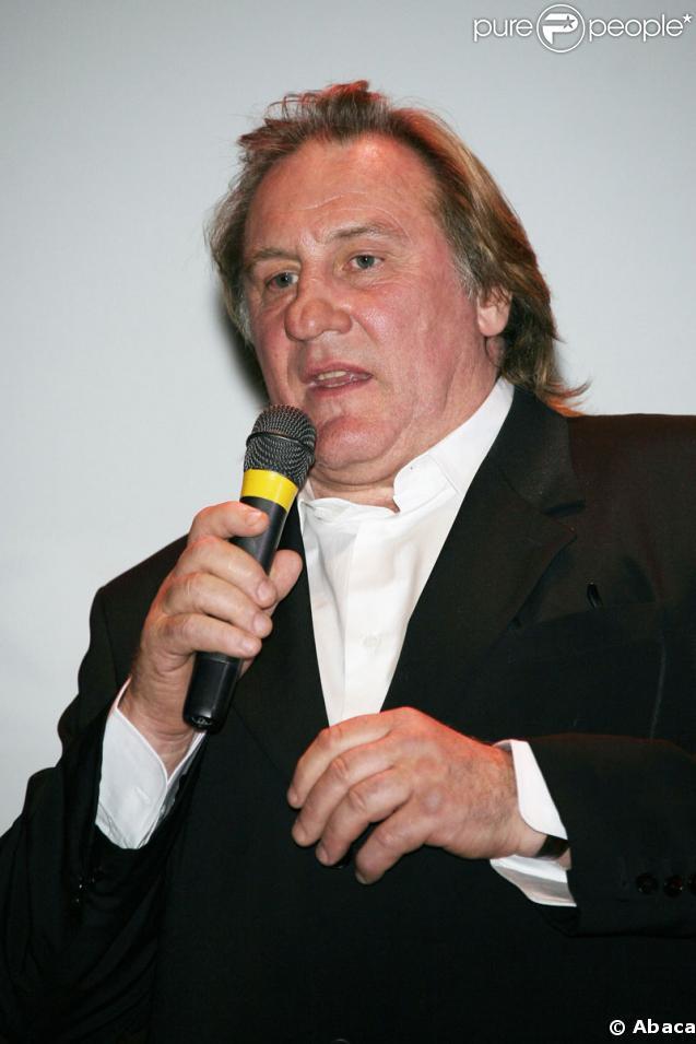 Le comédien Gérard Depardieu