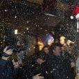 """Exclusif - Pierre-Jean Chalençon - Régine, de son vrai nom Régina Zylberberg fête son 89ème anniversaire au restaurant """"La chope des Tuileries"""" à Paris le 26 décembre 2018. © Pierre Perusseau/Bestimage"""