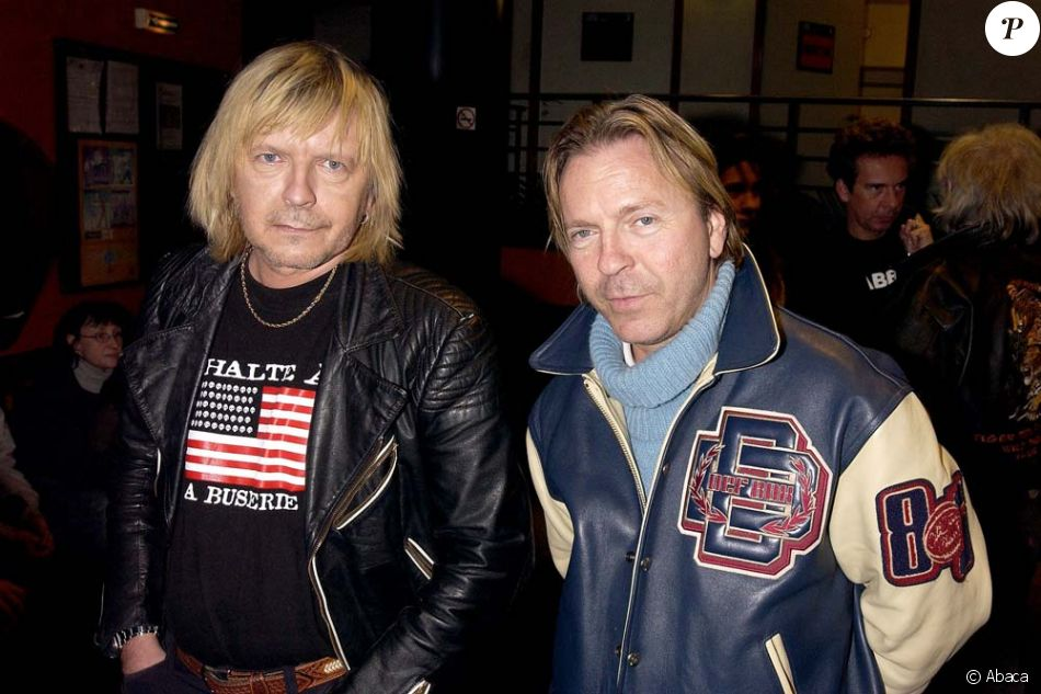 Renaud et son frère Thierry Séchan à Paris, le 18 février 2003.