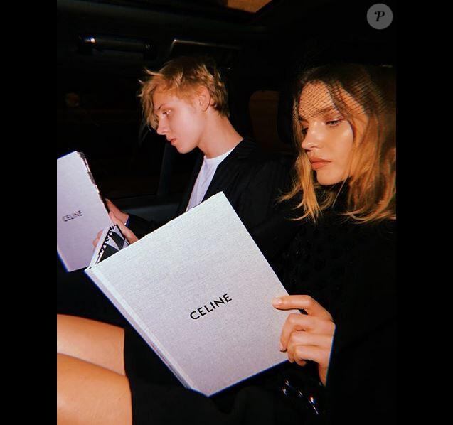 Natalia Vodianova et son fils Lucas assistent au défilé CELINE à Paris. Le 20 janvier 2019.