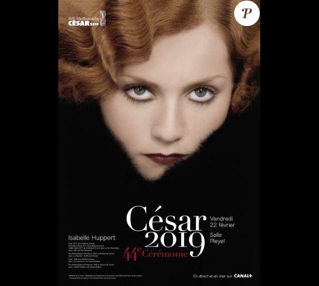 Isabelle Huppert sur l'affiche de la 44e cérémonie des César.