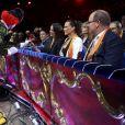 Pauline Ducruet, la princesse Stéphanie et le prince Albert II de Monaco lors du 43ème festival international du cirque de Monte-Carlo sous le chapiteau de Fontvieille à Monaco le 22 janvier 2019. © Jean-François Ottonello/Nice-Matin/Bestimage