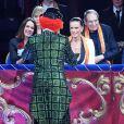 Pauline Ducruet, Robert Hossein, sa femme Candice Patou, la princesse Stéphanie de Monaco et le prince Albert II de Monaco au 43ème festival international du cirque de Monte-Carlo sous le chapiteau de Fontvieille à Monaco, le 22 janvier 2019. © Bruno Bébert/Pool Monaco/Bestimage