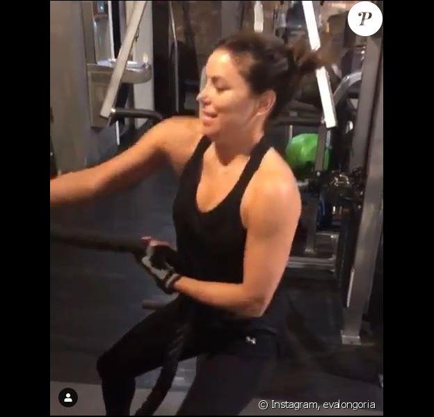 Eva Longoria à la salle Granite Gym, à Los Angeles. Janvier 2019