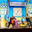 """La troupe des Enfoirés à l'occasion du spectacle """"Musique !"""" donné au Zénith de Starsbourg en janvier 2018."""