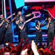 """La troupe des Enfoirés à l'occasion du show """"Musique !"""" joué au Zénith de Starsbourg en janvier 2018."""