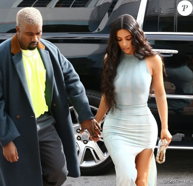 Kim Kardashian et son mari Kanye West à Miami le 05 janvier 2019