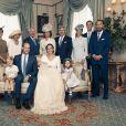 Exclusif - Photo officielle de la famille royale d'Angleterre lors du baptême du prince Louis en la chapelle St James à Londres. Le 9 juillet 2018.