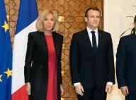 Brigitte Macron au Caire : Petite robe rouge pour une visite au palais