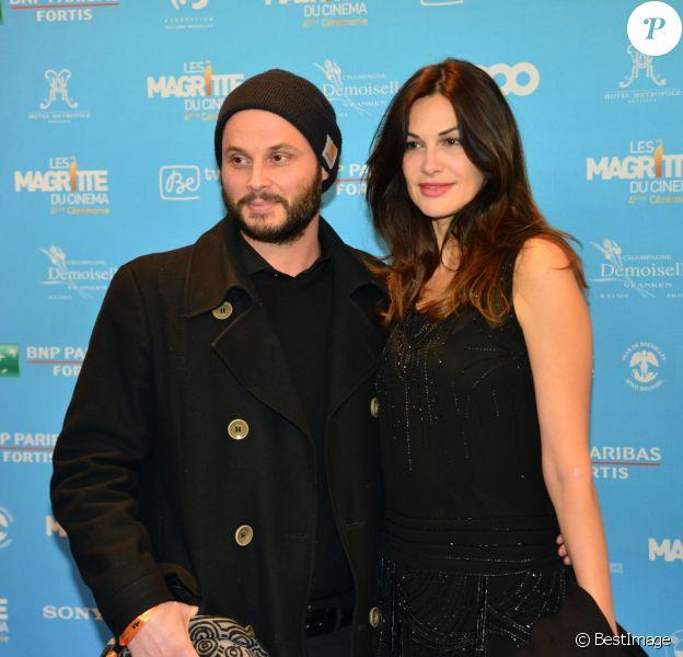 Helena Noguerra et son compagnon Fabrice Du Welz assistent à la 4ème Cérémonie des Magritte du Cinéma, au Square à Bruxelles.