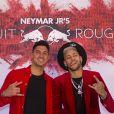 """Neymar Jr. et Gabriel Medina lors de la soirée d'anniversaire """"Neymar JR'S: Nuit Rouge"""" des 27 ans de Neymar Jr. au Pavillon Gabriel à Paris, France, le 4 février 2019. © Sarah Bastin/Red Bull Content Pool/Bestimage"""
