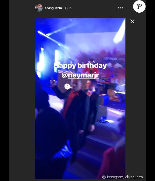 Elvis Guetta à l'anniversaire de Neymar, au Pavillon Gabriel, à Paris le 4 février 2019.