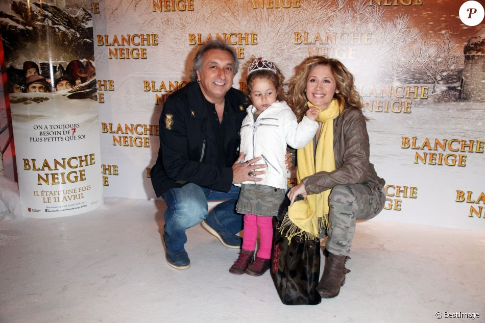 Lara Fabian, Gérard Pullicino et Lou - Première de Blanche Neige, à Paris, le 1er avril 2012